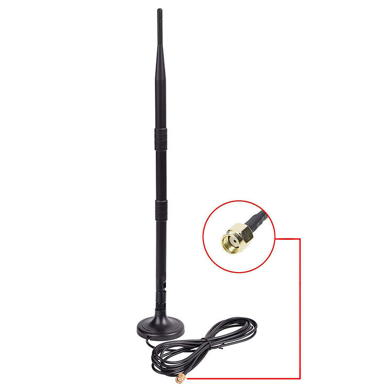 Indoor 2.4 G Wifi Antenna 9dbi Omni Directional Antenna With Magnetic Base